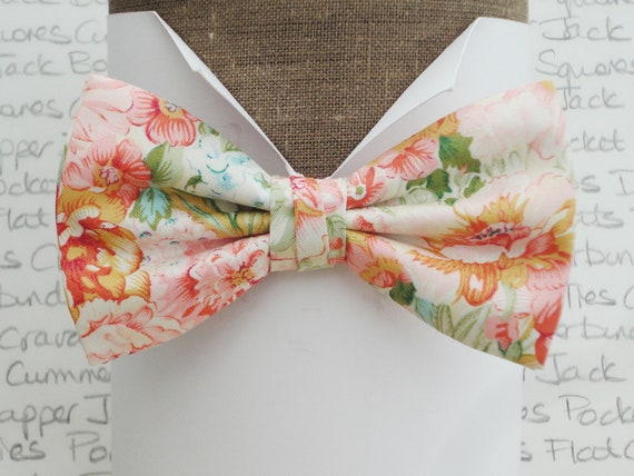 Floral bow tie, wedding bow tie, bow ties for men, wedding bow tie