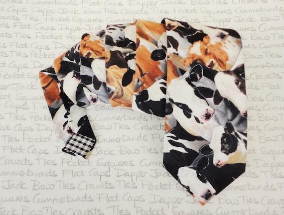 Neck ties for men, cow print tie