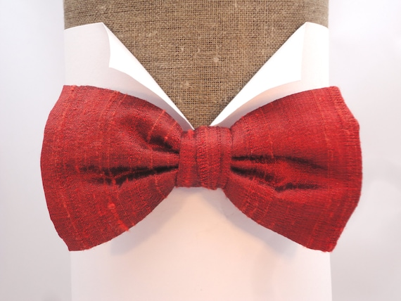 Rust Silk Bow Tie, Complete The Outfit With A Matching Pocket Square