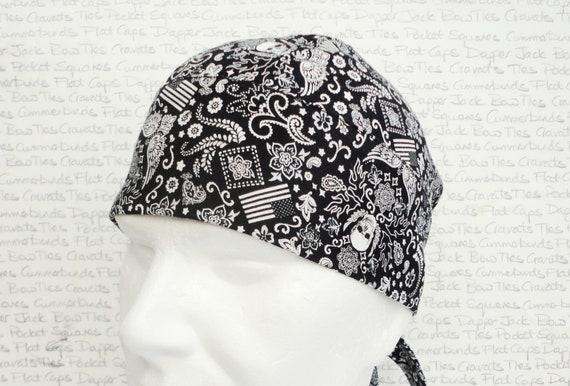 Motorcycle Skull Cap, Motorcycle Cap, Scrub Cap, Bikers Skull Cap, Close Fitting Skull Cap, Partially Lined, Chefs Cap