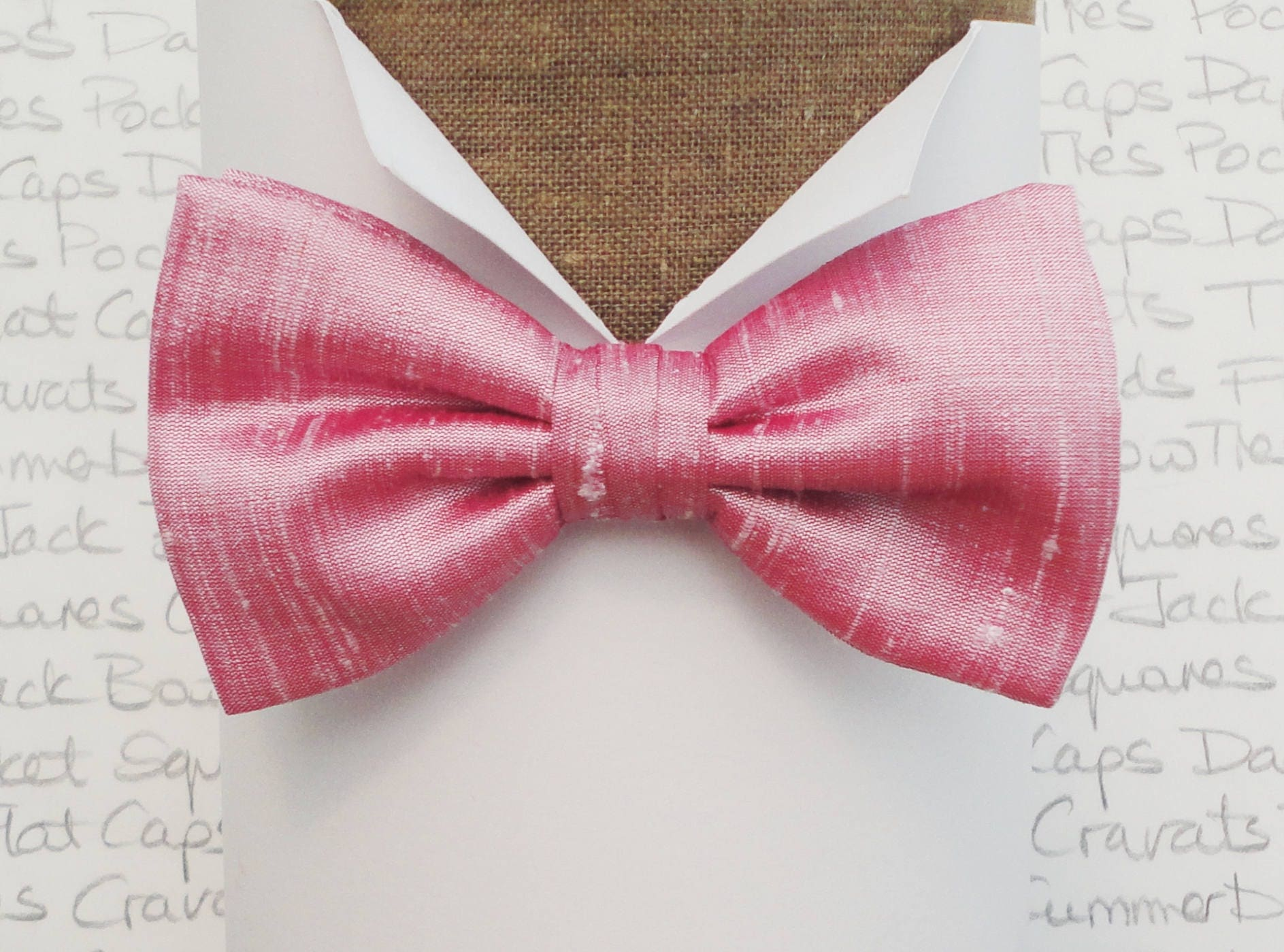 1a7045134348 Pink silk bow tie, bow ties for men, bow ties UK, silk dupion bow tie ...