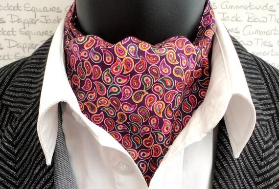Paisley Reversible Cravat/Ascot, Cravats For Men, Paisley Cravat, Paisley Ascot