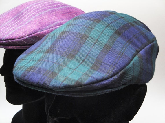 Flat Cap in Black Watch Tartan, Driving Cap