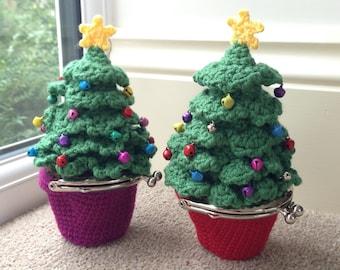 Christmas Tree Coin Purse Crochet Pattern