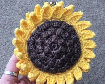 Sunflower Coin Purse Crochet Pattern