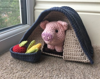 Pig in a Pigsty Playset Crochet Pattern