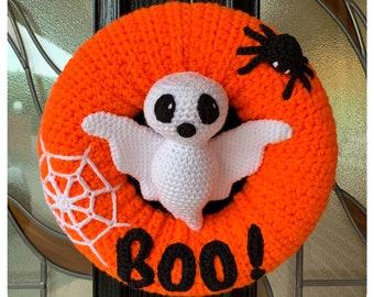 Halloween Ghost Wreath Crochet Pattern