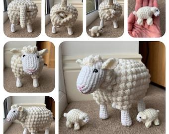 Sheep With Lambs Crochet Pattern