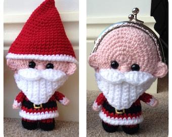 Santa Coin Purse Crochet Pattern