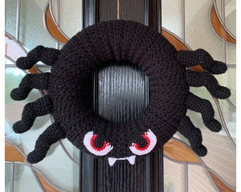 Halloween Spider Wreath Crochet Pattern