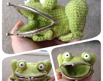Frog Coin Purse Crochet Pattern