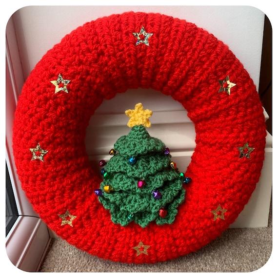 Christmas Tree Wreath Crochet Pattern
