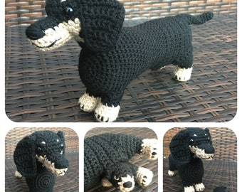 Mother Dachshund & Puppy Crochet Pattern