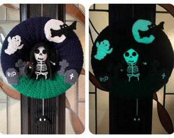 Halloween Grim Reaper Wreath Crochet Pattern