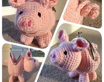 Pig Coin Purse Crochet Pattern