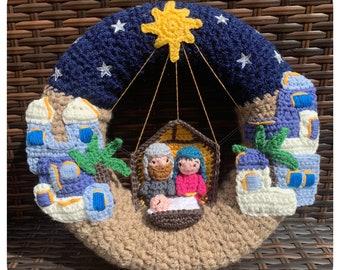 Bethlehem Nativity Wreath Crochet Pattern