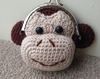 Monkey Coin Purse Crochet Pattern