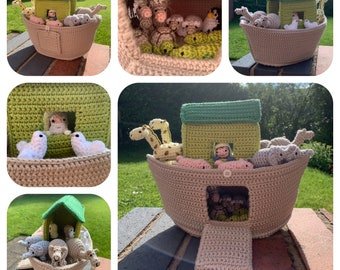 Noah's Ark & Animals Crochet Pattern