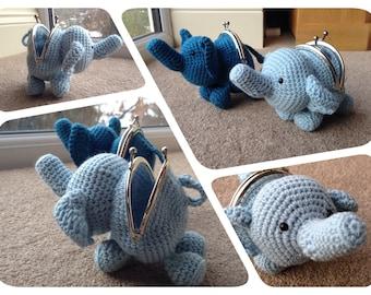 Elephant Coin Purse Crochet Pattern