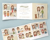A Little Love Story Wedding Invitation |  Custom Couple Portrait Illustration