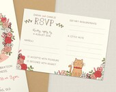 Custom RSVP |  Wedding RSVP card with pet