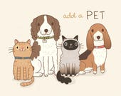 Add a pet to your custom artwork