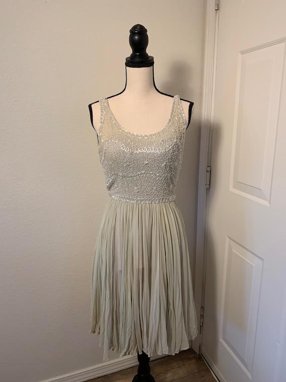 Vintage silk Frank Starr beaded dress
