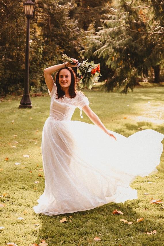 Vintage wedding dress ball gown