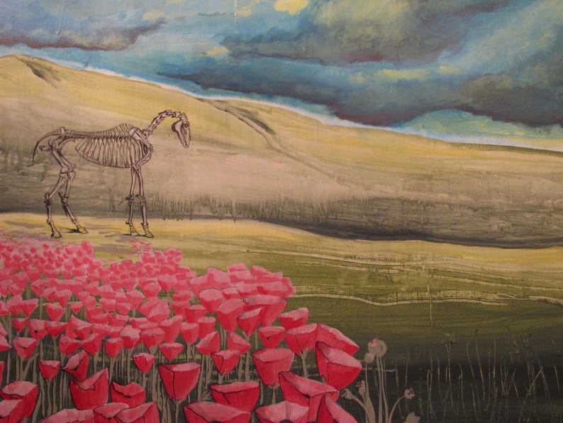 Horse and Poppy Postcards image 0