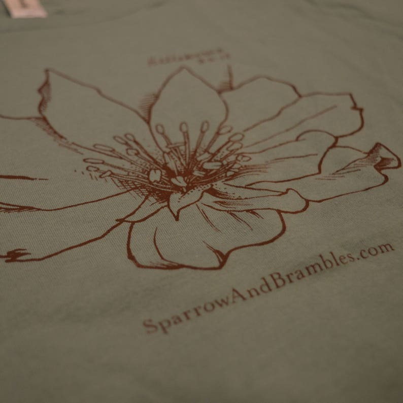 Sparrow and Brambles Men's Organic Cotton Tee  Coral image 0