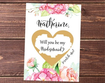 scratch off bridesmaid you be my bridesmaid gifts for bridesmaids bridesmaid gift ideas bridal shower gift maid of honor scratch off card