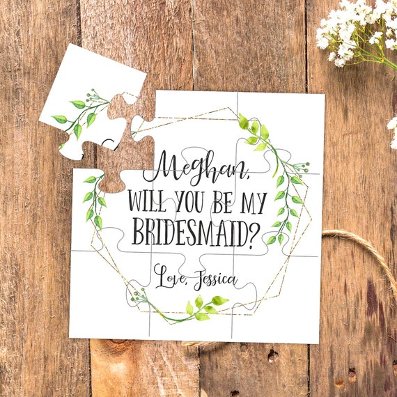 Bridesmaids gifts Will you be my bridesmaid puzzle proposal Bridal Party gifts