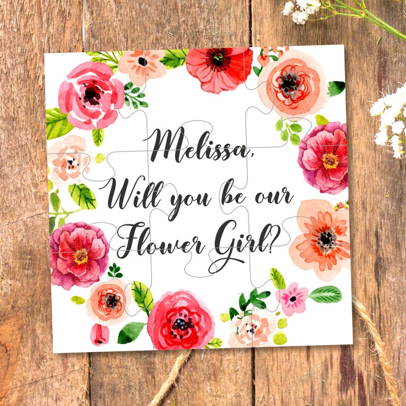Will You Be my Flower girl Will You Be our Flower girl Ask image 0