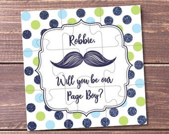 Will You Be Our Page boy, Personalized Page boy Invitation, Page boy Puzzle, Page boy Proposal, Page boy Puzzle Invitation, Asking Page boy