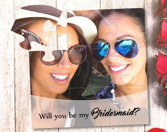 Photo gift Will you be my Bridesmaid puzzle Will you be my Maid of Honor proposal Bridesmaid photo gift Asking bridesmaids wedding gift