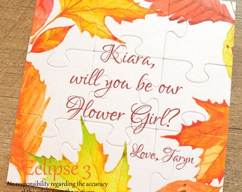 Fall wedding, Wedding proposal, flower girl proposal, fall wedding proposal, will you be our ring bearer, will you be my bridesmaid, puzzle