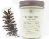 Balsam and Cedar Soy Candle, Soy Wax Candles, Balsam Candle, Soy Candles Handmade, Scented Candles, Soy Candles, Natural Candles, Wood Scent