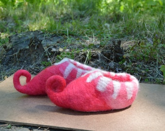 Pink Baby Elf Slippers