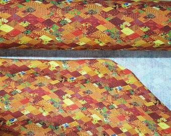 Linen fabric (100% linen), digital printing, orange