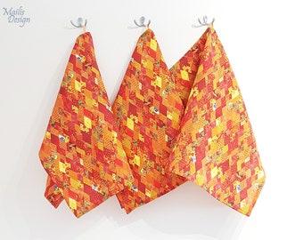Kitchen towel, linen, orange