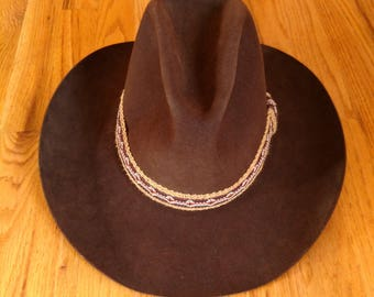 a67b6324b50d3 Vintage Stetson Chocolate 4X Beaver Western Style - Cowboy Hat