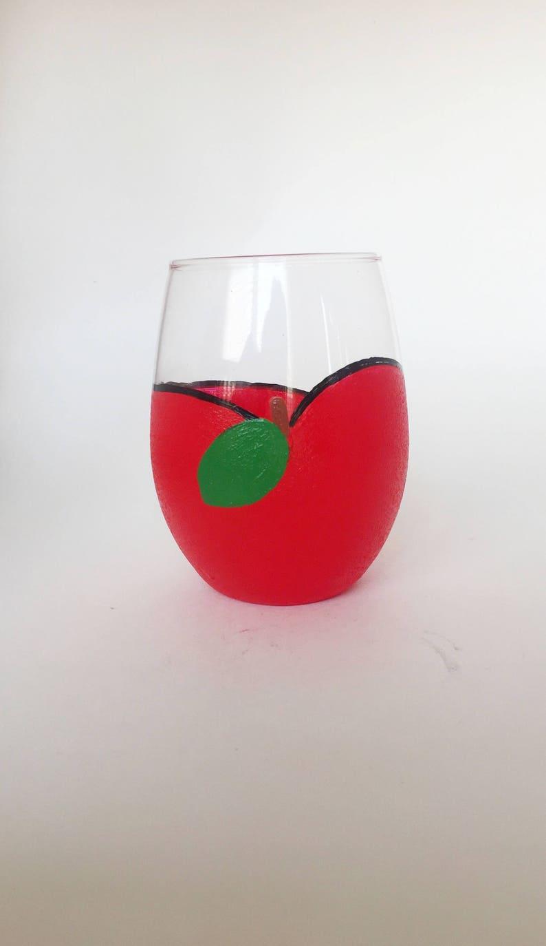 Apple wine glassteacher wine glass