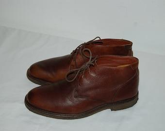 Men Size 9 1/2 Vintage Johnston & Murphy Brown Dress Boots
