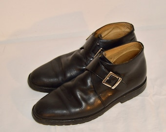 354b8588b656 Men Size 10 Vintage Kenneth Cole Italian Black Ankle Boots