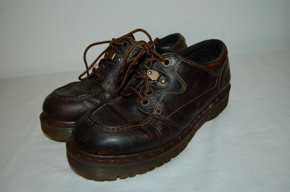 Dr UK Airwair Leather Martens England Women Made 8 6 Shoes US Brown in fqwYxYtZIR