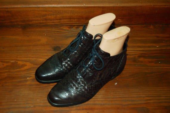 noir nbsp;Bandolino lac taille bottines 2 en 6 nbsp;Vintage Femmes 1 cuir 8ACRnnq