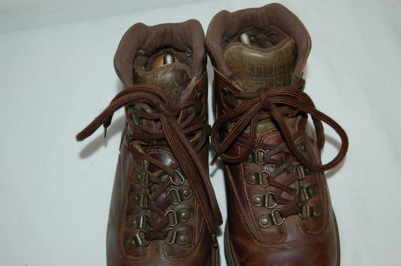 8 Leather American Vintage Women Brown Hiking Size Boots Eagle fnAgn5wxq