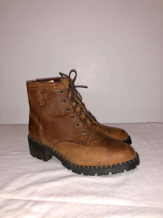 Vintage Candies 90s Brown Leather Boots