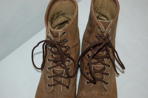 Leather Boots Justin Brown Vintage Rustic Women Roper 5 1 2 Size AxXpwv6Hq8