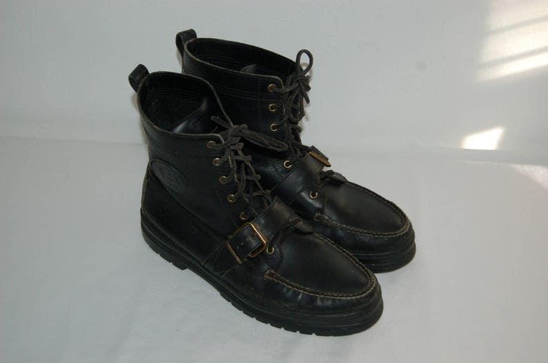 916185cb8c1be Men Size 11 Vintage RL Polo Sport Rugged Black Hiking Ankle Boots/ Work Boot